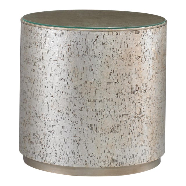 Cork Drum Side Table from Kenneth Ludwig Chicago For Sale