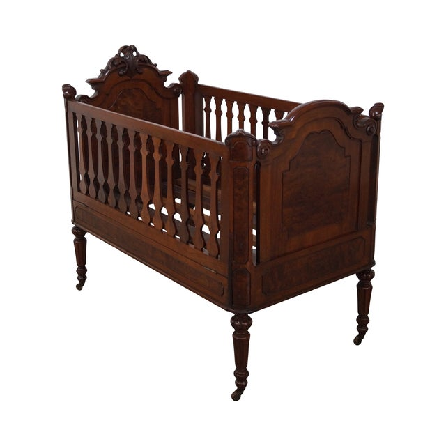 3b5864864591 Antique Walnut American Renaissance Baby Doll Crib