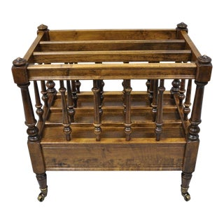 Late 20th Century Ethan Allen Spindle Canterbury Magazine Rack For Sale