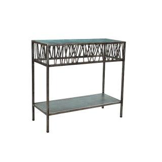 Contemporary Garrard Rustic Iron Console Table For Sale