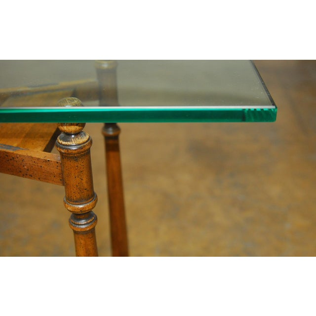 Henredon Glass Top Console - Image 6 of 7