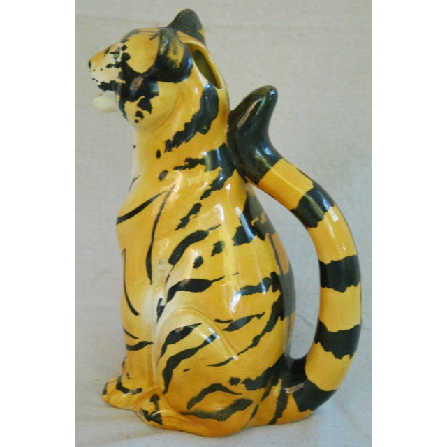 Italian Hollywood Regency Tiger Pitcher - Image 7 of 8