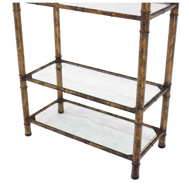 Metal Faux Bamboo Shelf For Sale In New York - Image 6 of 7