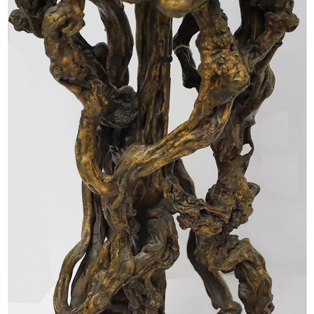 Chinese Antique Root Pedestal For Sale - Image 4 of 7