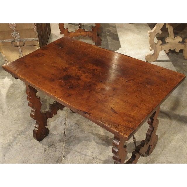 Circa 1750 Italian Walnut Wood Writing Table For Sale In Dallas - Image 6 of 13