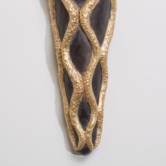 1950s A Set of Four Ceramic and Gilt Snake Designed Sconces, 1950s For Sale - Image 5 of 5