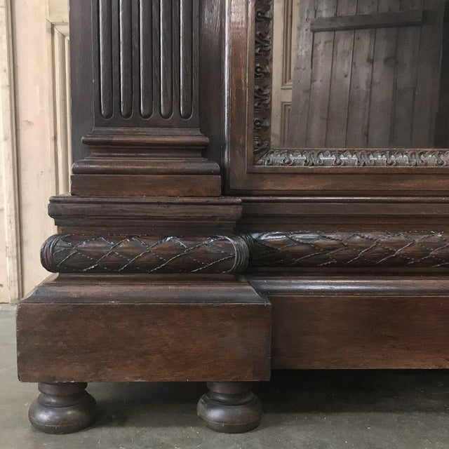 Brown 19th Century French Louis XVI Neoclassical Bookcase For Sale - Image 8 of 13