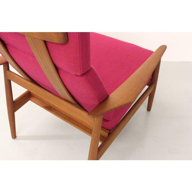 Pink Danish Teak Lounge Chair Arne Vodder France & Son For Sale - Image 8 of 11