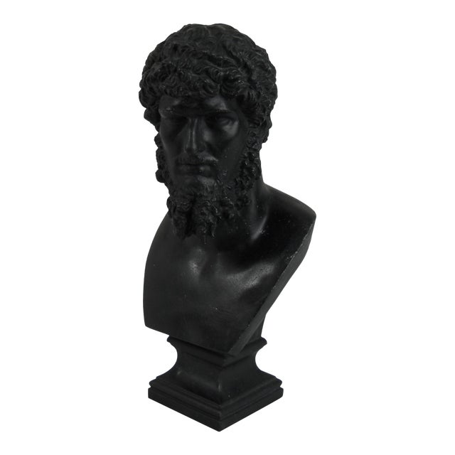 Classical Cast Metal Greek Bust - Image 1 of 8