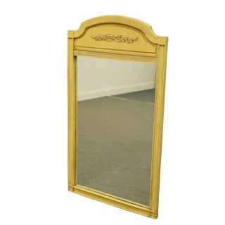 Basic-Witz French Provincial Cream / Yellow Painted Dresser / Wall Mirror For Sale