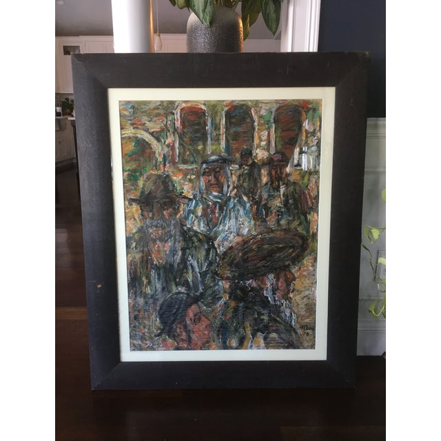 1970s Vintage Abstract Mathias Barz Original Oil Painting For Sale - Image 13 of 13