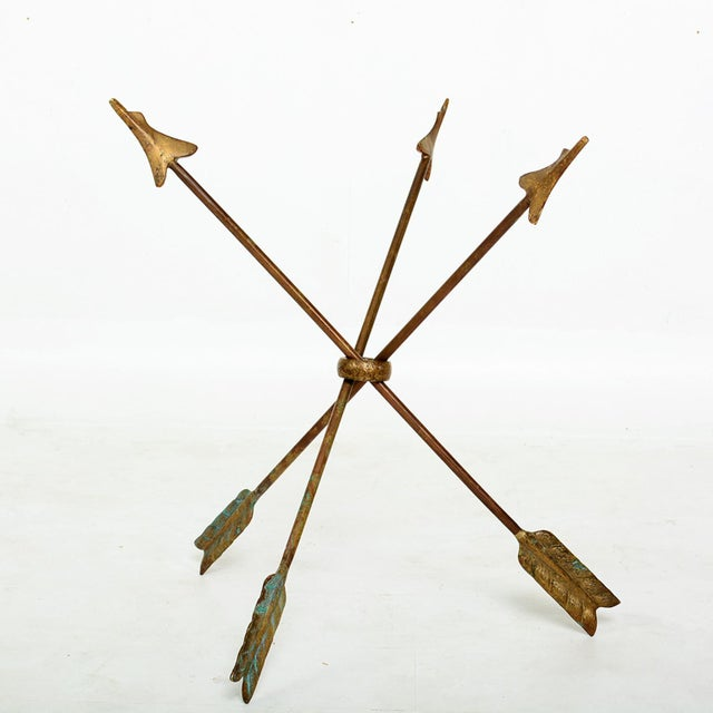 For your pleasure: Arturo Pani attribution on this glamorous Martini Cocktail Table, a tripod design of three solid bronze...
