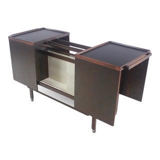 Scandinavain Modern Rosewood Bar Cabinet Designed by Nils Erik For Sale