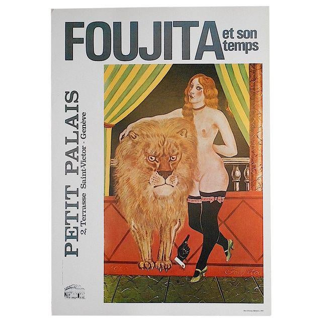 Modern Vintage Poster Lithograph - Foujita For Sale - Image 3 of 3