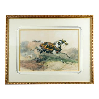 Arabian Horse Lithograph Print For Sale