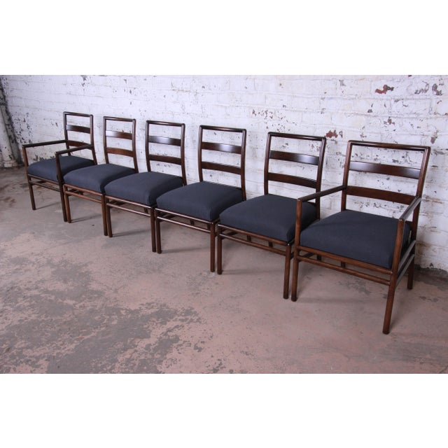 Robsjohn Gibbings for Widdicomb Mid-Century Modern Walnut Dining Set For Sale - Image 11 of 13