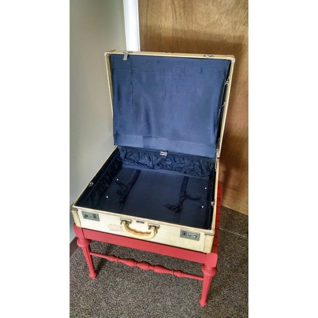 Vintage Suitcase Storage Accent Table - Image 5 of 9