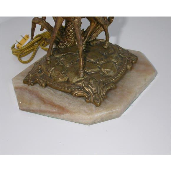 Figural Bronze table lamp For Sale - Image 5 of 8