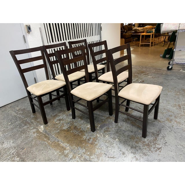 Calligaris Extendable Dining Table + Six Chairs Set For Sale - Image 10 of 13