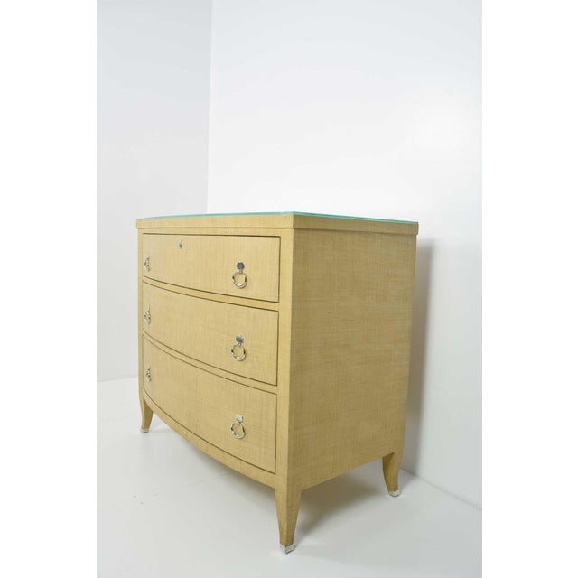 Thomasville Grasscloth Chest of Drawers For Sale In Dallas - Image 6 of 8