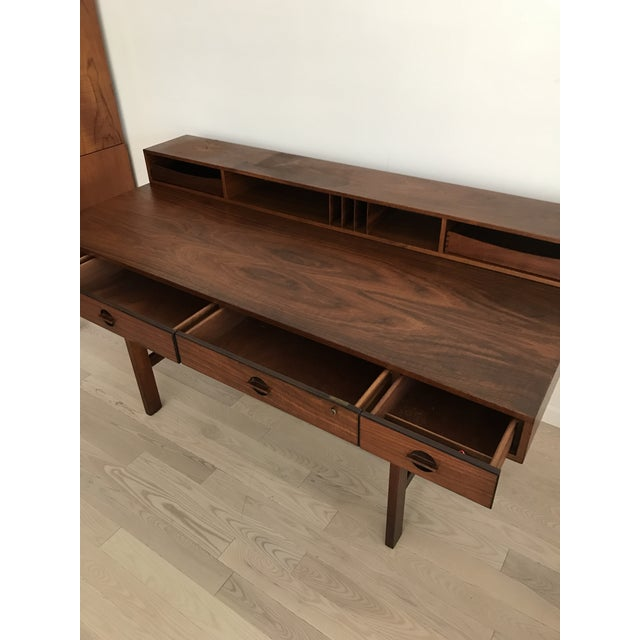 Peter Lovig Nielsen Rosewood Folding Dansk Danish Desk Circa 1965 - Image 7 of 11