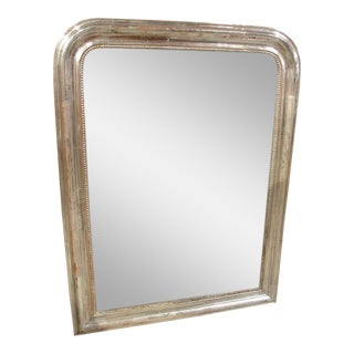 Antique Silverleaf Louis Philippe Mirror from France, 19th Century For Sale