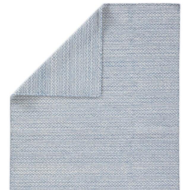 Jaipur Living Eulalia Handmade Geometric Blue & Ivory Area Rug - 9′ × 12′ For Sale - Image 4 of 6
