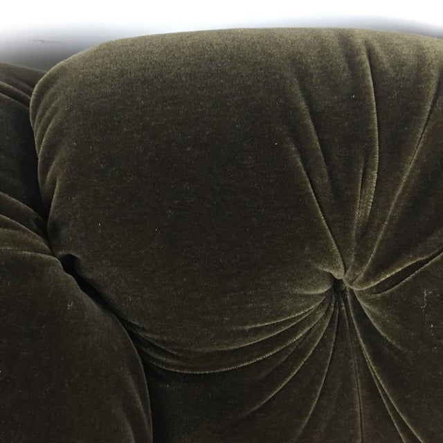 Tufted Green Mohair Sofa - Image 5 of 11