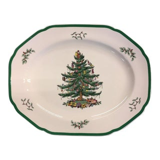 "Spode England ""Christmas Tree"" Large Oval Serving Platter For Sale"