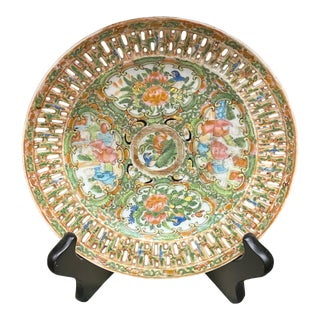 Antique Chinese Famille Verte Plate For Sale