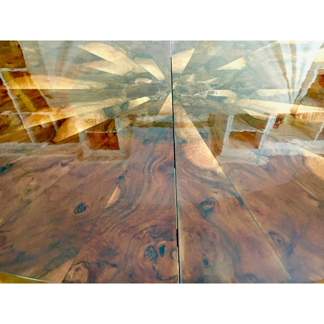 Paul Evans Race Track Burl Wood Oval Dining Table - Image 6 of 6