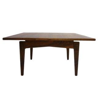 Gorgeous Utilitarian Dark Walnut Jens Risom Floating Coffee Table