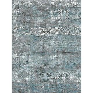 Schumacher Patterson Flynn Martin Nexus Hand Knotted Wool Silk Geometric Rug For Sale