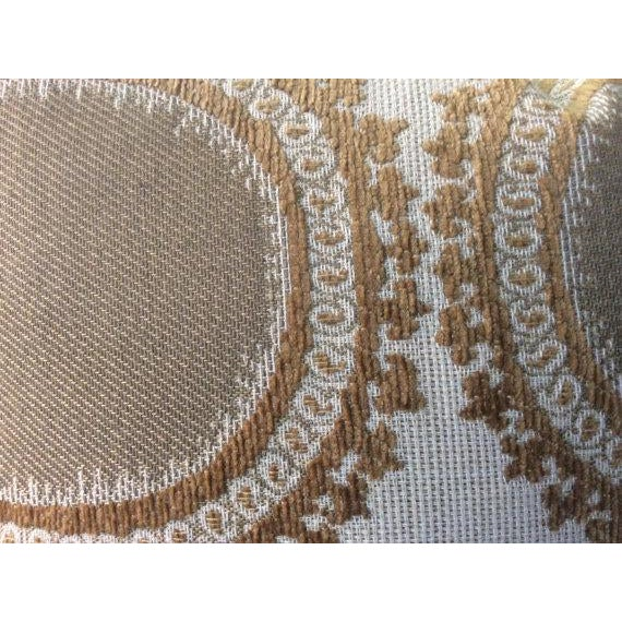 Kravet Pillows in Toffee Brown & Gray Geometric Woven Dots on Ivory - a Pair - Image 4 of 6