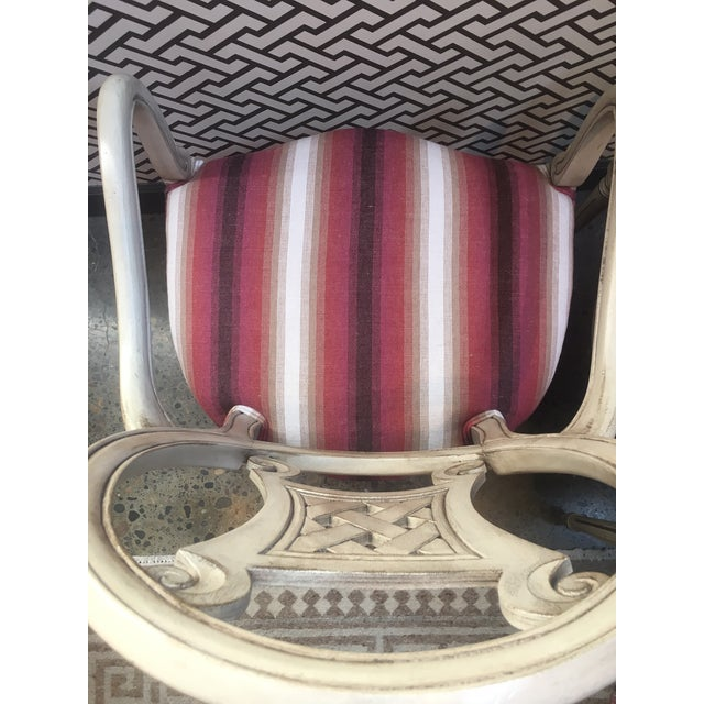 Upholstered Gustavian Chairs - A Pair For Sale - Image 5 of 5