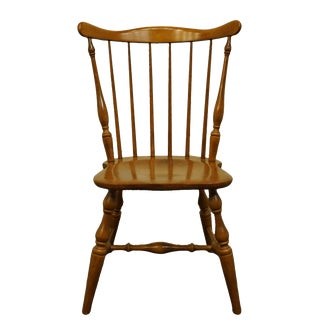 Late 20th Century Tell City Colonial Style Solid Hard Rock Maple Spindle Back Dining Chair For Sale