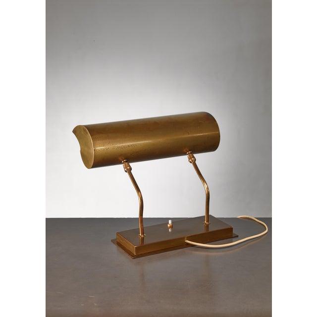 Angelo Lelli Brassdesk Lamp for Arredoluce, Italy For Sale - Image 6 of 10