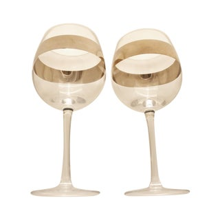 Mid-Century Dorthy Thorpe Wine Glasses- Pair