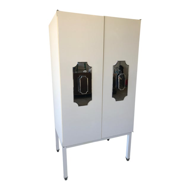 Custom Large White Cabinet for Viceroy Palm Springs For Sale