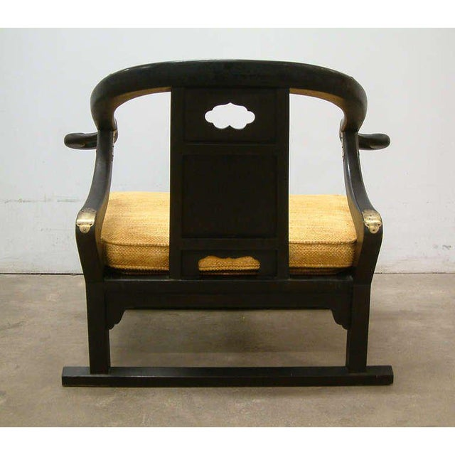 "Asian Michael Taylor for Baker ""Far East Collection"" Lounge Chair For Sale - Image 3 of 10"