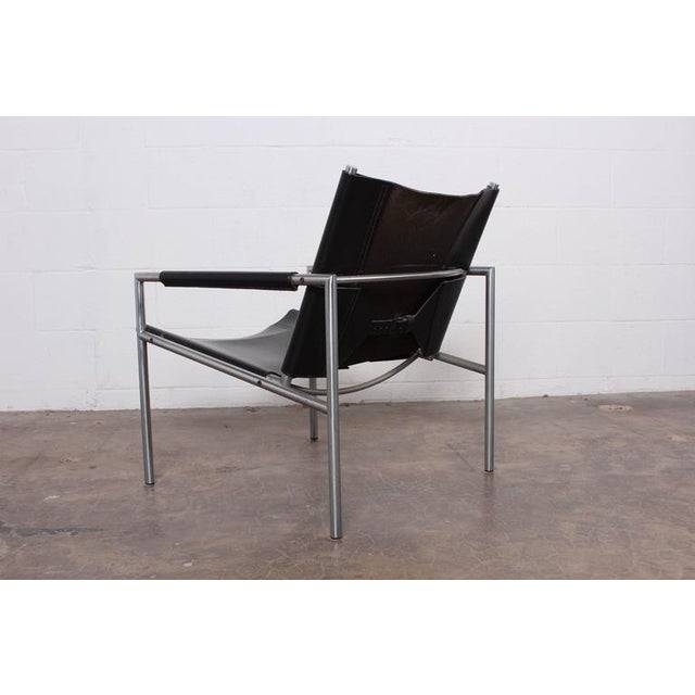 Pair of Leather Lounge Chairs by Martin Visser - Image 7 of 10