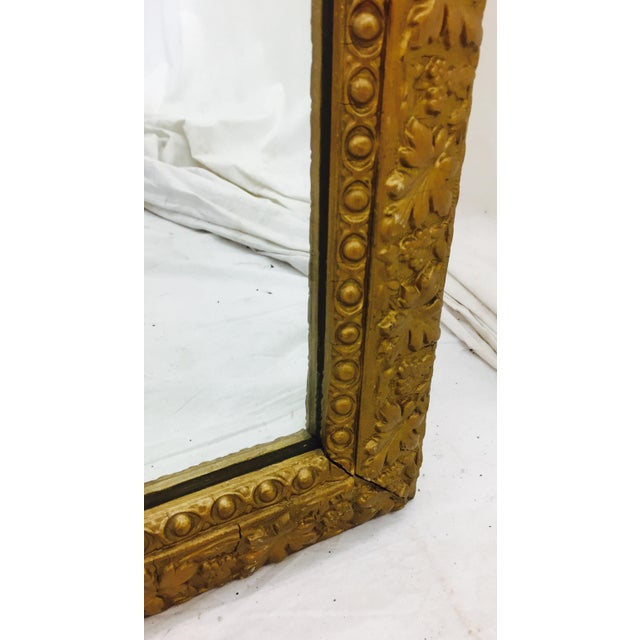 Antique Gold Giltwood & Gesso Mirror For Sale - Image 4 of 9