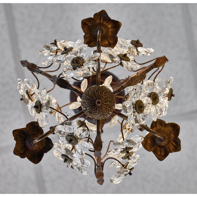Vintage Baguès Crystal Chandelier For Sale - Image 9 of 10