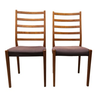 Vintage Scandinavian Modern Svegards Markaryd Teak Dining Chairs - a Pair For Sale