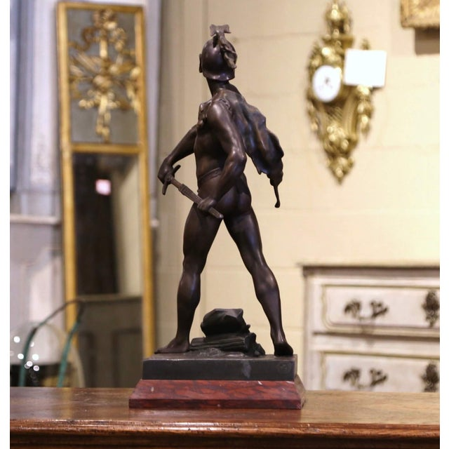 """19th Century French Spelter Sculpture Titled """"Honor-Patria"""" Signed E. Picault For Sale - Image 10 of 12"""