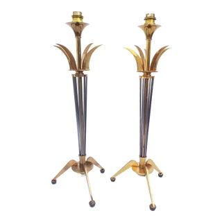 Maison Lunel Table Lamps - a Pair For Sale