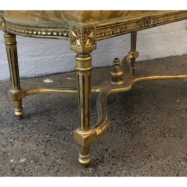 Louis XIV Style Giltwood Bench For Sale - Image 4 of 5