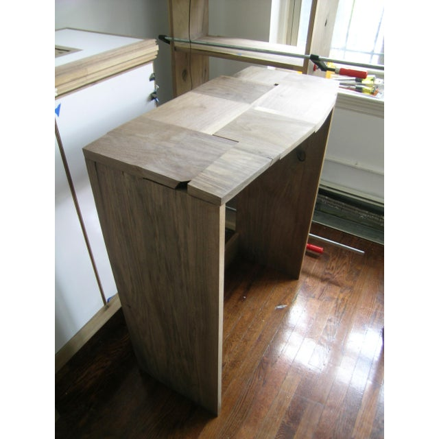 Abstract Contemporary Fashion Inspired Walnut Console Table For Sale - Image 3 of 9
