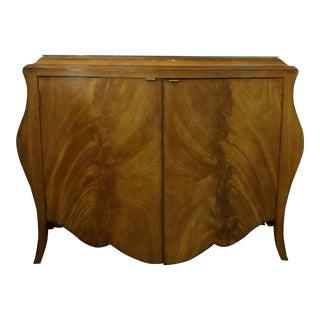 Vintage Bombay Burl Wood Chest/Cabinet For Sale