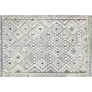 "Nalbandian - Contemporary Afghan Maimana Kilim - 5'7"" X 8' For Sale"